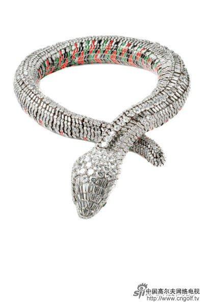 cartier银蛇造型手镯